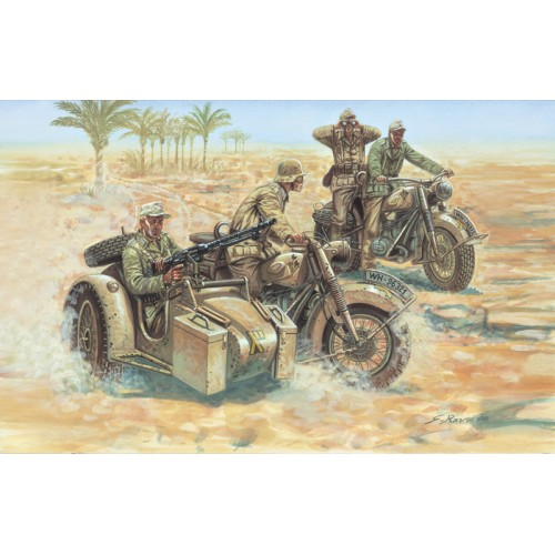 MOTOCICLETAS AFRICA KORPS ESCALA 1/72 - ITALERI 6121