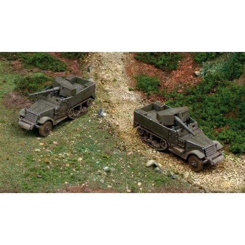 SEMIORUGA M-3 & CAÑON 75 mm (2 unidades) MONTAJE RAPIDO - escala 1/72 - Italeri 7510