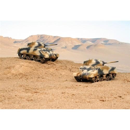 CARRO DE COMBATE M-4 A2 SHERMAN III (2 unidades) MONTAJE RAPIDO - Italeri 7511