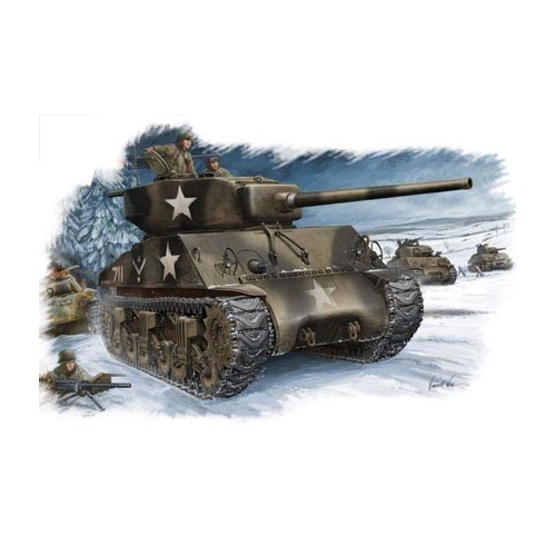 CARRO DE COMBATE M-4 A3 (76mm) W SHERMAN ESCALA 1/48 - Hobby Boss 84805