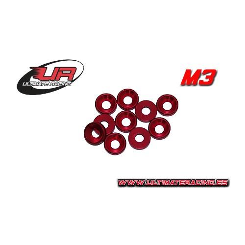 ARANDELA CONICA M3 (roja)