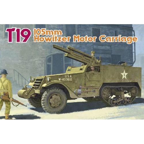 SEMIORUGA T-19 (OBUS M-3 / 105 mm) -Escala 1/35- Dragon 6496