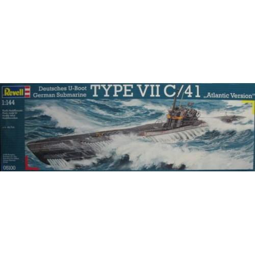 SUBMARINO TIPO VII C/41 ATLANTIC -1/144- Revell 05100