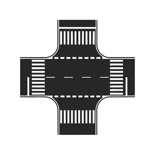 CRUCE DE CALLES (220 x 220 mm) ESCALA H0 1/87 NOCH 60712