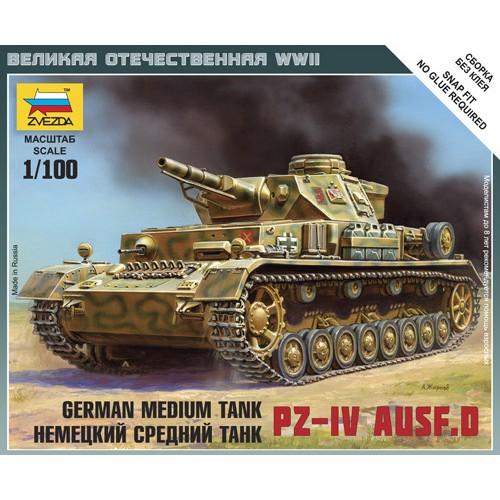CARRO DE COMBATE SD.KFZ. 161 PANZER IV Ausf. D 1/100