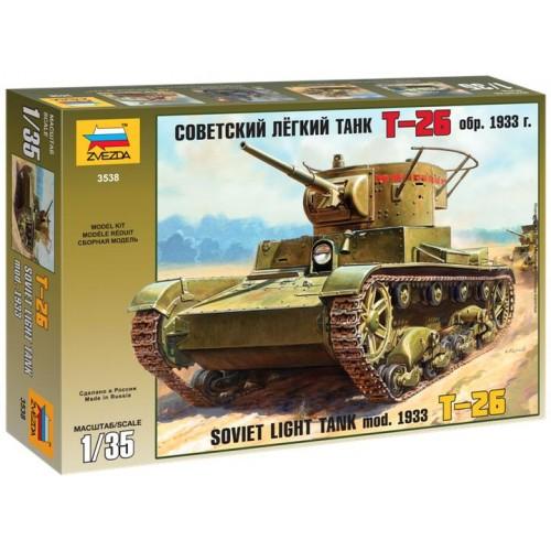CARRO DE COMBATE T-26 B Mod. 1933 - Zvezda 3538 - ESCALA 1/35