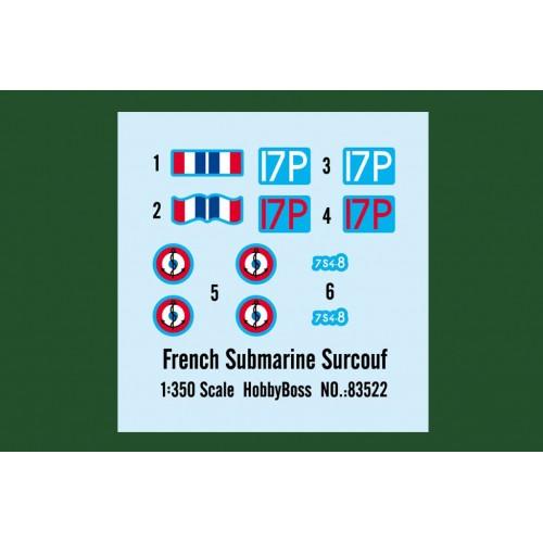 SUBMARINO SURCOUF -Escala 1/350- Hobby Boss 83522