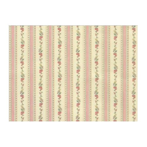 PAPEL PARED FRANJAS ROSAS ESTAMPADA FLORAL (300 x 470 mm)