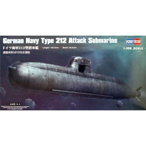 SUBMARINO TYPE 212 (Alemania) escala 1/350 hobbyboss 83527