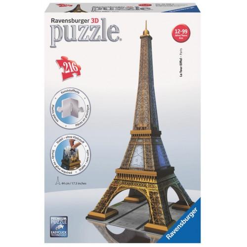 PUZZLE 3D 216 pzas. TORRE EIFFEL - RAVENSBURGER 12556