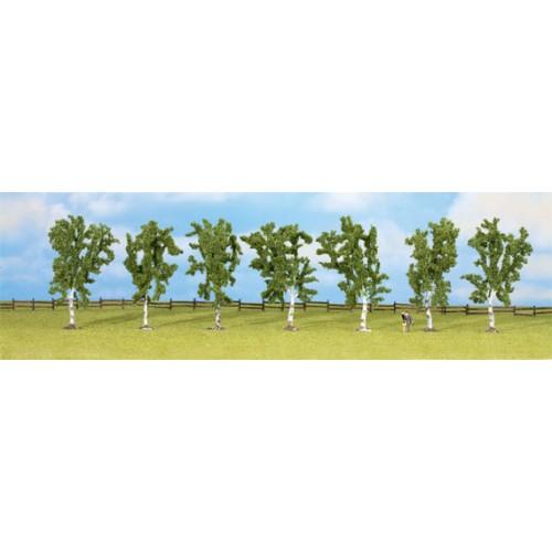 ARBOL: ABEDULES H0, TT, N Y Z (100 mm) 7 unidades