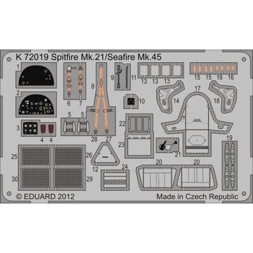 SET FOTOGRABADOS SPITFIRE Mk.21 / SEAFIRE Mk.45