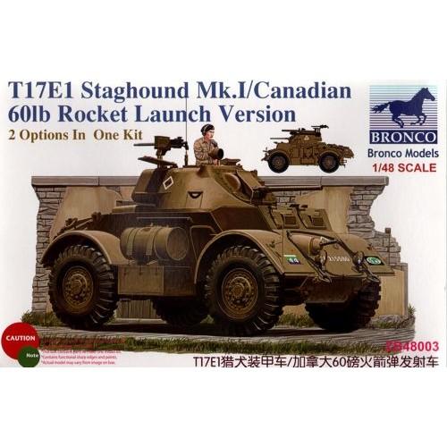 VEHICULO BLINDADO T-17 E1 STAGHOUD MK-I Y COHETES 60 lb