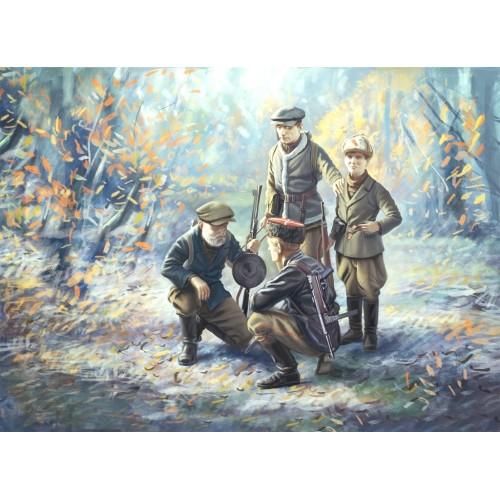 PARTISANOS SOVIETICOS escala 1/35 (4 figuras) ICM 35631
