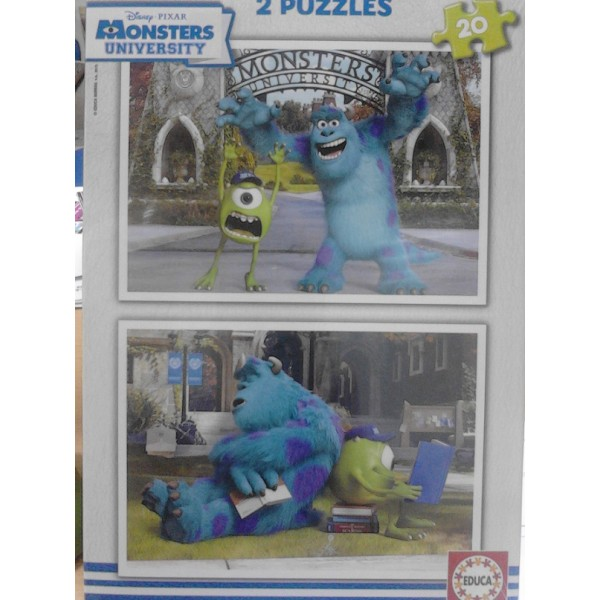 PUZZLE 20 PZAS X 2 MONSTERS UNIVERSITY (280 x 200 mm)