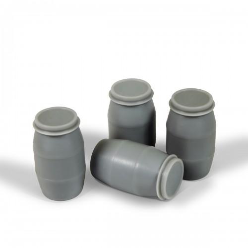 BIDONES DE PLASTICO MODERNOS (4 unidades)