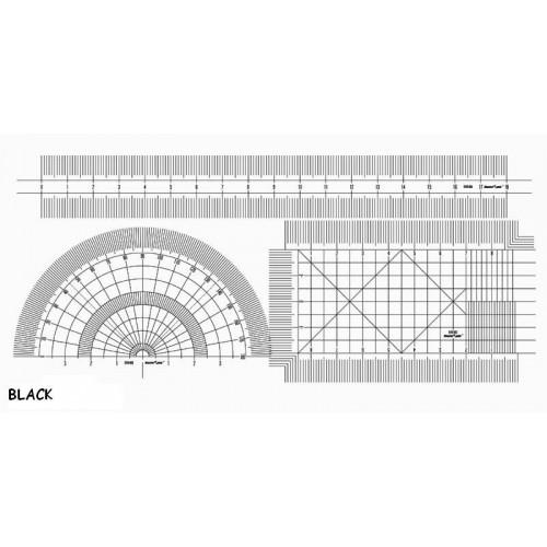 SET REGLAS FLEXIBLES 0,2 mm PLATA - Trumpeter Master Tools 09941