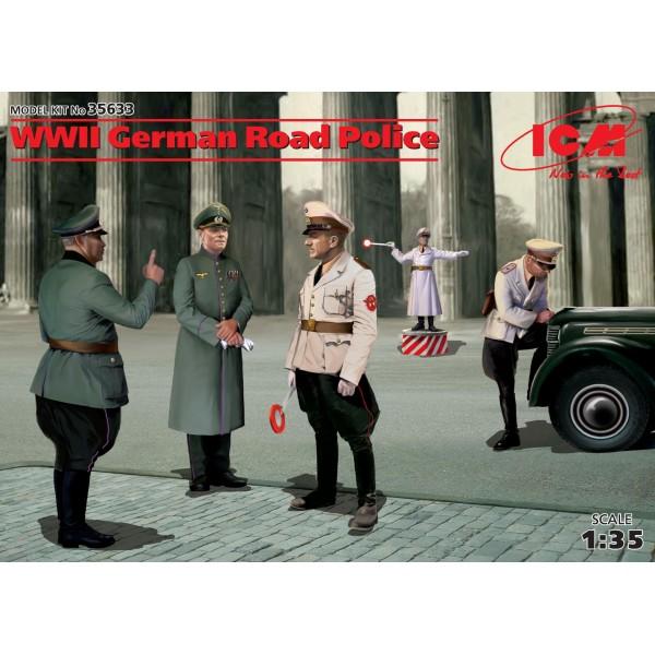 POLICIA ALEMANA DE CARRETERAS (5 FIGURAS) ESCALA 1/35 - ICM 35633