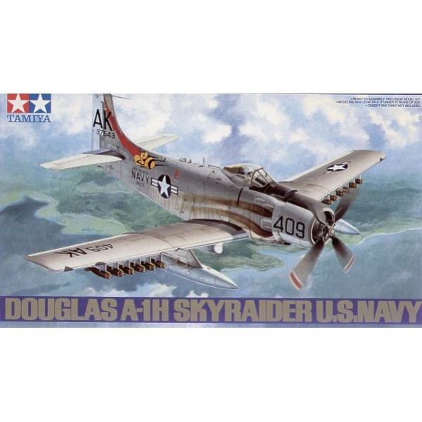 DOUGLAS A-1H SKYRAIDER (U.S. NAVY) -Escala 1/48- Tamiya 61058