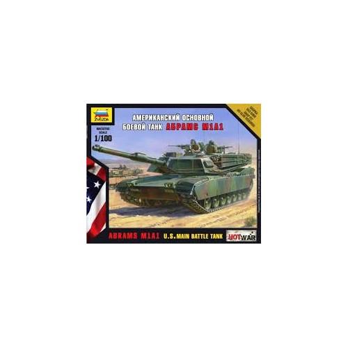 CARRO DE COMBATE M-1 A1 ABRAMS 1/100