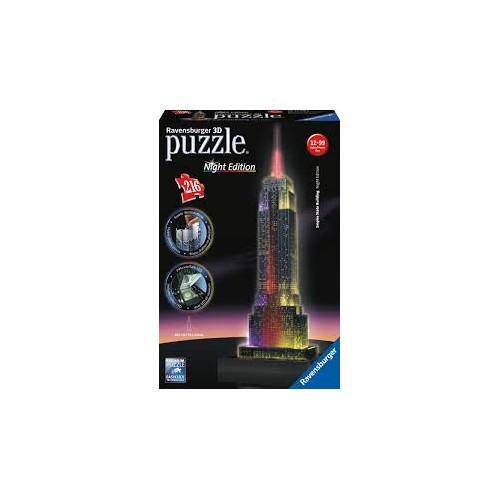 PUZZLE 3D 216 pzas. EMPIRE STATES BUILDING - Night Edition RAVENSBURGER 12566