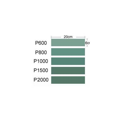 PAPEL DE LIJA P600, P800, P1000, P1500 Y P2000 (200 x 60 mm) - Trumpeter Master Tools 09950