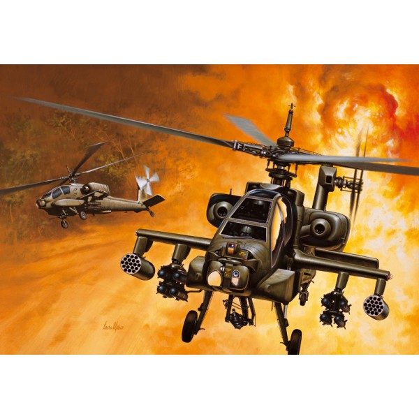 HUGHES AH-64A APACHE - ESCLA 1/72 - ITALERI 159