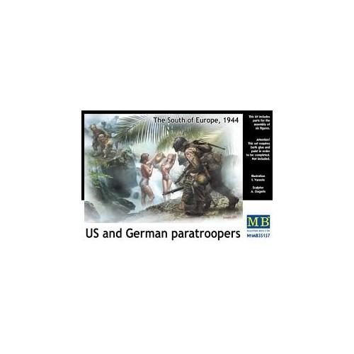 PARACAIDISTAS U.S. ARMY Y ALEMANES, SUR DE EUROPA 1.944