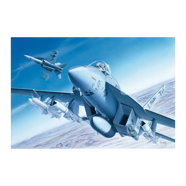 MCDONNELL DOUGLAS F/A-18 E SUPER HORNEt escala 1/72 italeri 0083