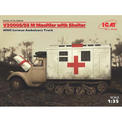 "FORD V3000S/SS M MAULTIER ""AMBULANCIA"" -Escala 1/35- ICM 35414"