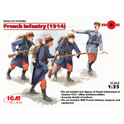 INFANTERIA FRANCES 1914 - ICM 35682