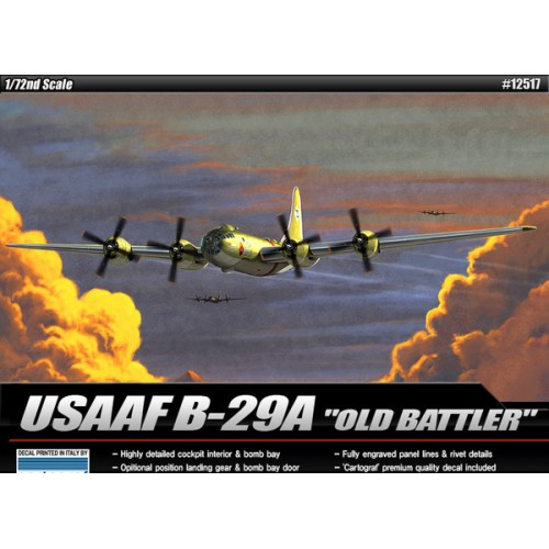 "BOEING B-29 A SUPERFORTRESS ""Old Battler"" -Escala 1/72- Academy 12517"