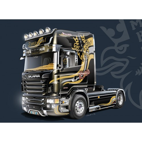 SHOW TRUCK: SCANIA R730 V8 TOPLINE  Imperial  - escala 1/24 - Italeri 3883