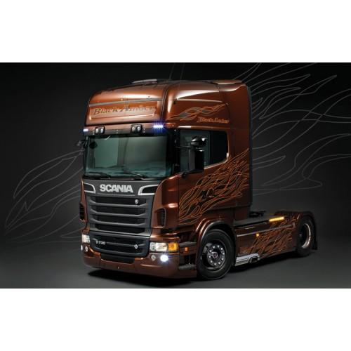 SHOW TRUCK: SCANIA R730 Black Amber -Escala 1/24- Italeri 3897