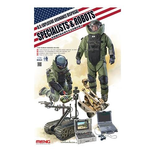 EQUIPO DESACTIVACION EXPLOSIVOS U.S. ARMY -Escala 1/35- Meng Model HS-003