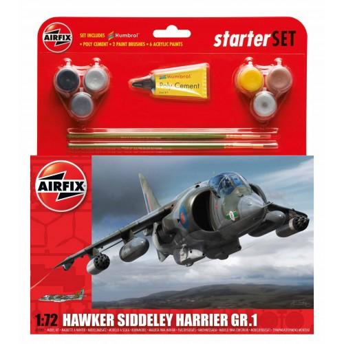 HAWKER SIDDELEY HARRIER Gr.1 (Pegamento & Pinturas) -Escala 1/72- Airfix A55205