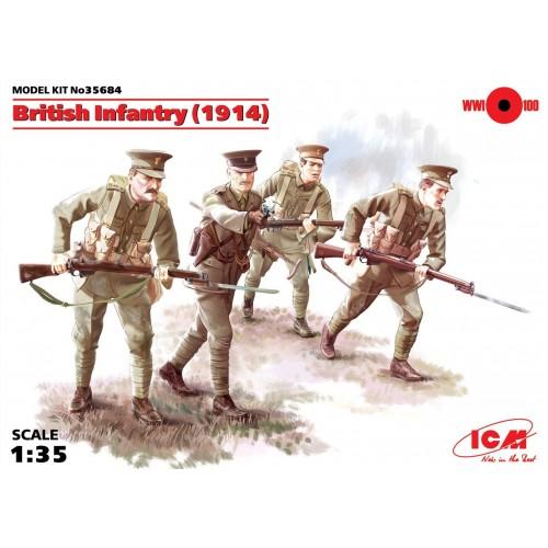 INFANTERIA BRITANICA 1914 - ICM 35684