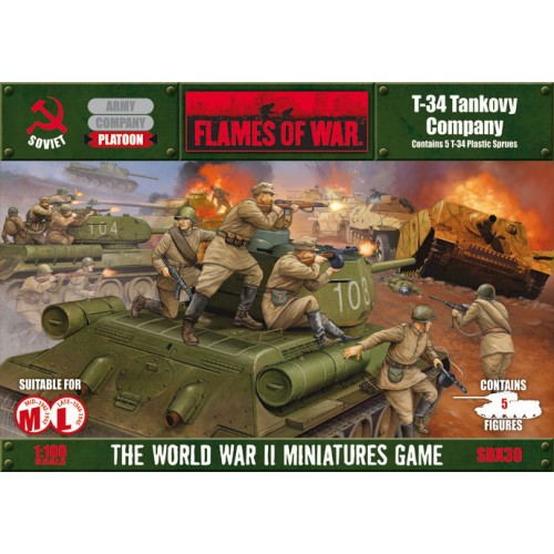COMPAÑIA DE CARROS T-34 Flames of War SBX30