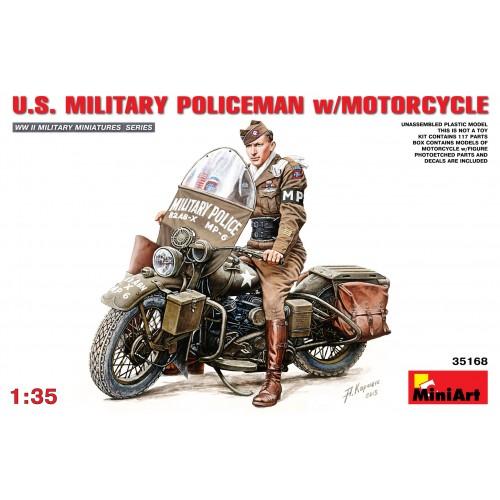 POLICIA MILITAR U.S. ARMY Y MOTOCICLETA