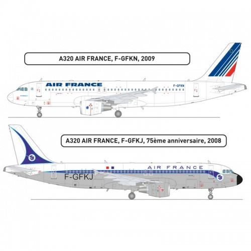 AIRBUS A320 AIR FRANCE -Escala 1/125- Heller 80448