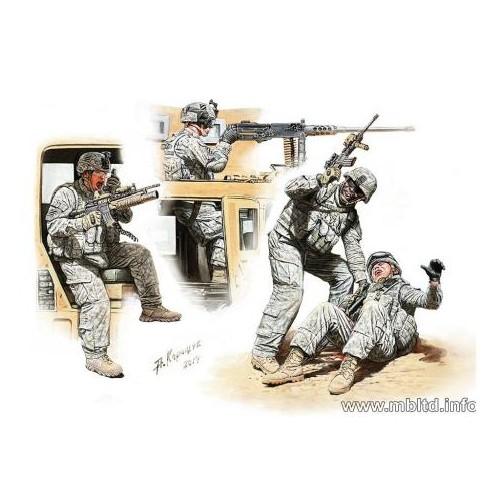 Modern Wars: MAN DOWN!  INFANTERIA U.S., ORIENTE MEDIO - Master Box 35170