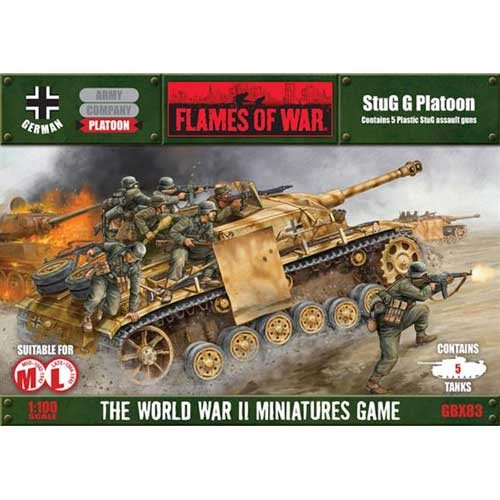 PELOTON STUG III G (5 unidades) - FLAMES OF WAR ESCALA 1/100