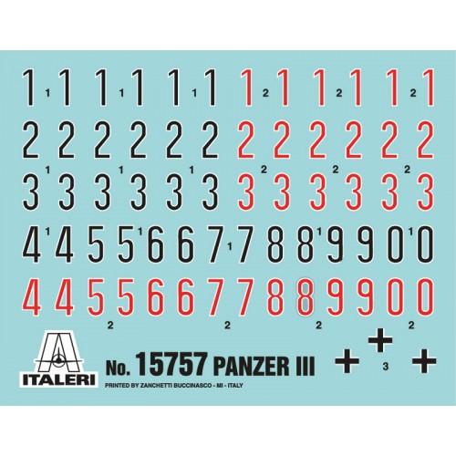 CARRO DE COMBATE SD.KFZ. 141 PANZER III -Escala 1/56- Italeri 15757