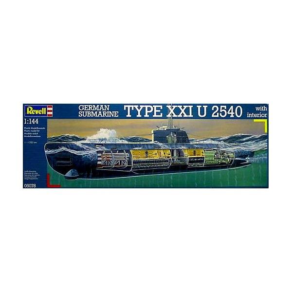 SUBMARINO TIPO-XXI U-2540 -1/144- Revell 05078