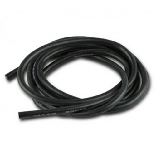CABLE SILICONA NEGRO 2.5MM (AWG 14) 1 METRO