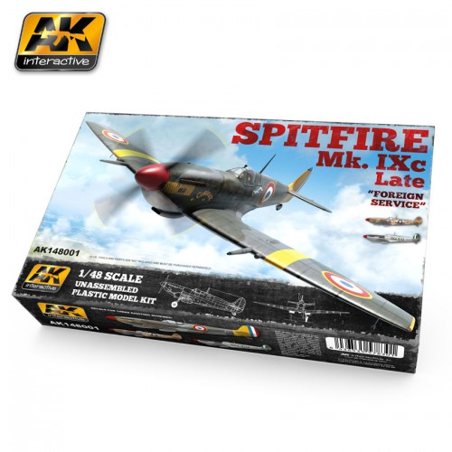 SUPERMARINE SPITFIRE MK-IXc Late - Foreing service -Escala 1/48- AK Interactive AK148001