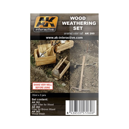 WEATHERING SET: WOOD (3 botes)