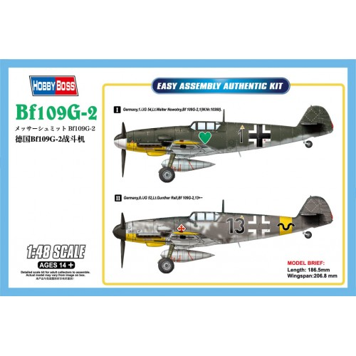 MESSERSCHMITT Bf-109 G-2 -1/48- Hobby Boss 81750
