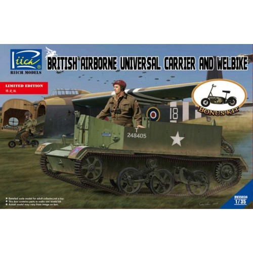 UNIVERSAL CARRIER MK- III AEROTRANSPORTADO & WELBIKE -1/35- Riich Model RV35034