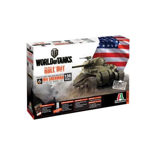 World of Tanks: CARRO DE COMBATE M4 SHERMAN 1/56 - Italeri 56503